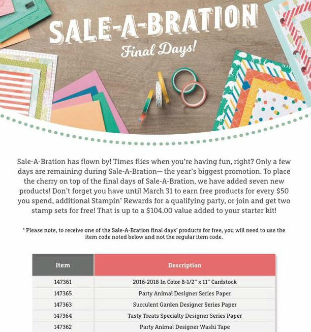 Final Days of Sale-a-bration! Don't Miss Out!