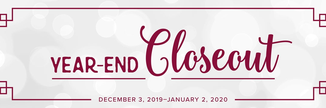 Year-End Clearance Sale Starts TODAY!