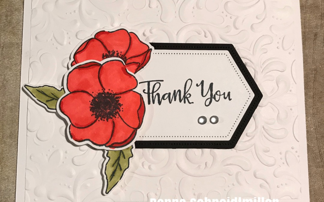 Painted Poppies Thank You!